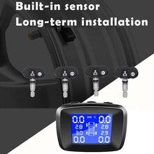 1 шт. TPMS ЖК-дисплей Автомобильная диагностическая система контроля давления в шинах диагностический инструмент с 4 внешними датчиками беспроводной TPMS