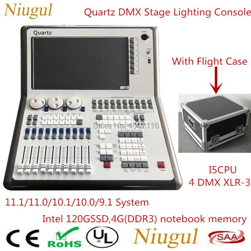 With Flight Case Tiger Touch 11.1/11.0/10.1/10.0/9.1 System Titan Quartz Stage Lighting Console  DMX512 Controller DJ EquipmentsWith Flight Case Tiger Touch 11.1/11.0/10.1/10.0/9.1 System Titan Quartz Stage Lighting Console  DMX512 Controller DJ Equipments