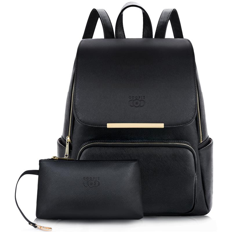Fashion PU Leather Backpack Waterproof School Bag Student Backpack Women Solid Large Capacity Zipper Travel Bag Backpacks