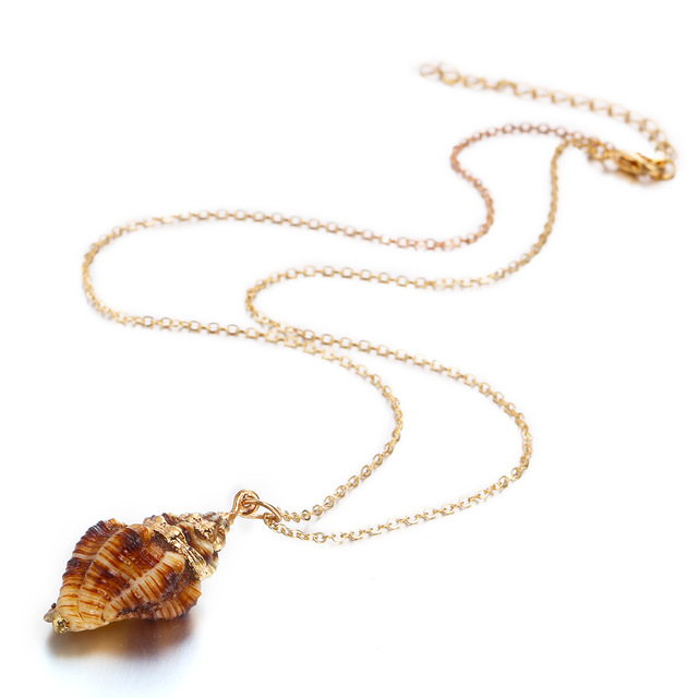Фото модное пляжное ожерелье из натуральной ракушки эффектное богемное