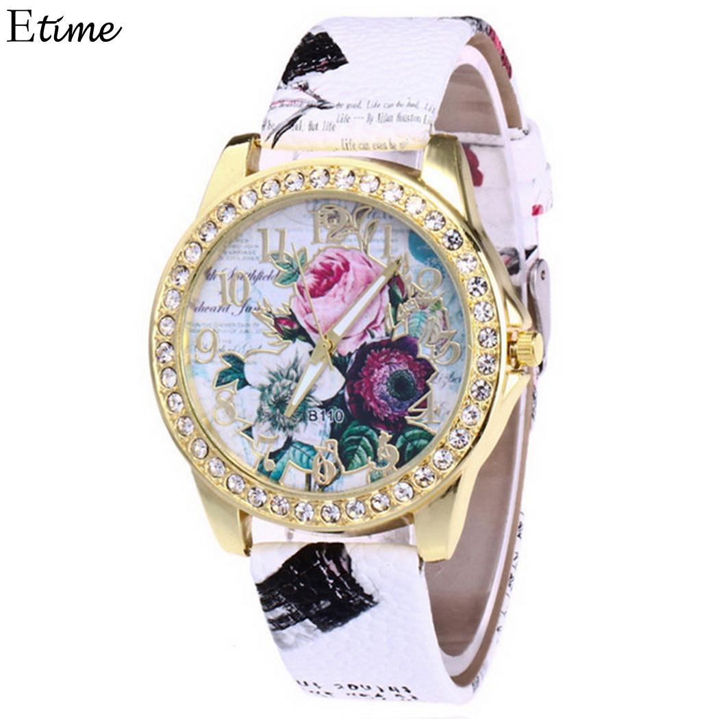 Watches Fanala Watch Women Fashion Round Dial Watch Analog Rhinestone Quartz Floral 40g Wrist 4 Cm/1.6 Inch Watch Pin Buckle Evident Effect