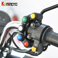 KEMiMOTO Универсальный 5 кнопочный массив мотоциклетных переключателей гоночных велосипедов мотокросса 22 мм руль переключатель в сборе Ручка Бар переключатель