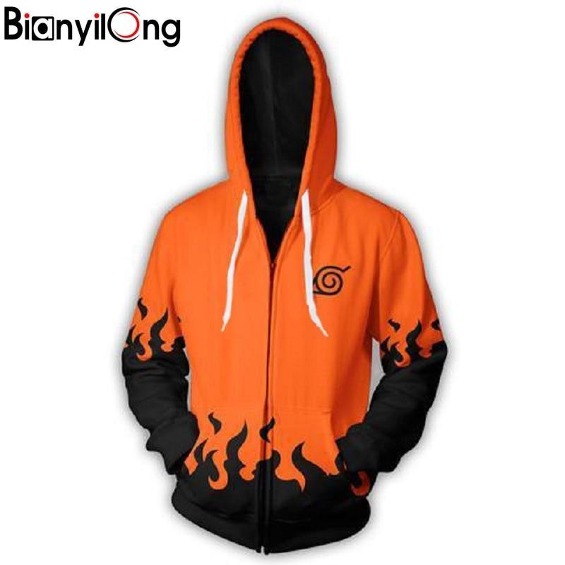 Fashion Men Women Cool Sweatshirt Hoodies Men Women 3d Print Orange Seven Generations Naruto Streetwear Long Sleeve Clothling