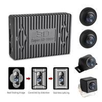 3D 1080P 360Degree Bird View System 4 Camera Panoramic Car DVR Recording Parking Rear View Cam with G sensor DVR Quad cord CPU