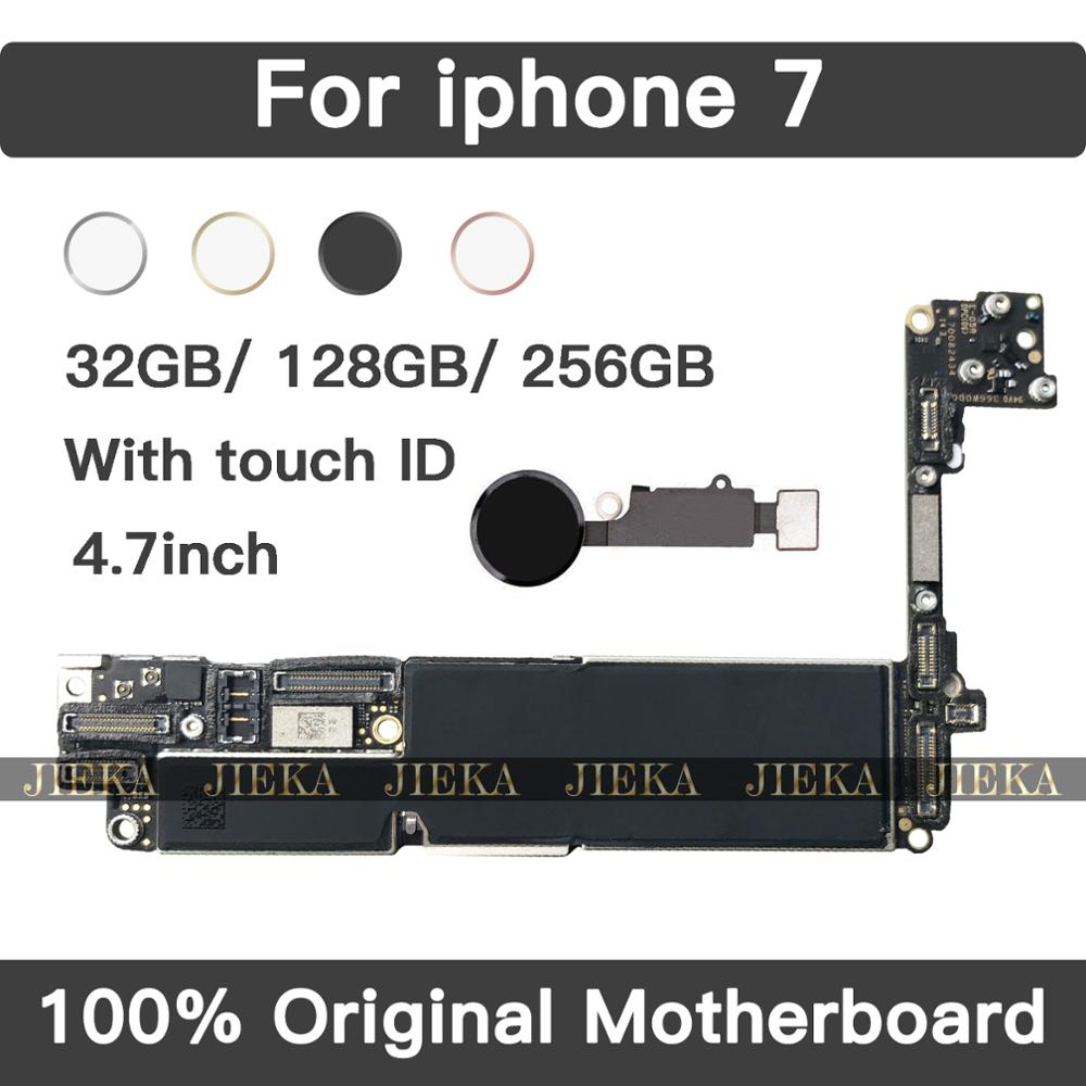 Trend Product  For iPhone 7 4.7inch Motherboard Unlock With Full Chips With Touch ID Original IOS Update Completed
