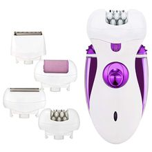 цена на Epilator for Women Electric Compact Hair Removal Facial Razor Lady's Shaver Rechargeable 4 in 1 Cordless Body Legs Hair Trimme
