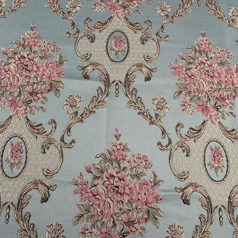 Clic Flower Brocade Fabric Damask