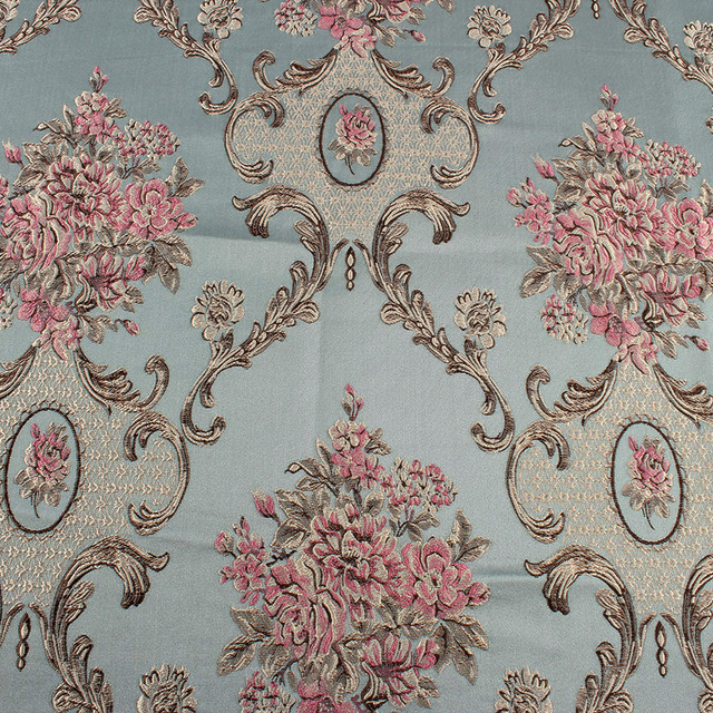 Classic Flower Brocade Fabric Damask Jacquard Garments Thick Clothes