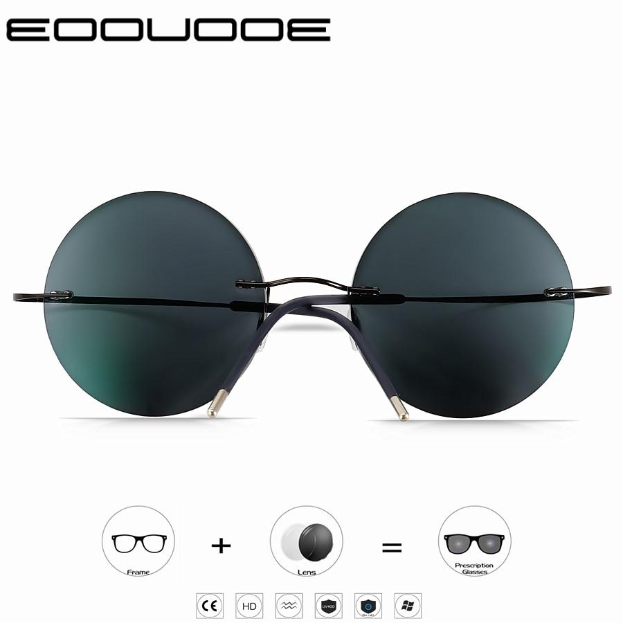 Photochromism Reading Glasses Men Titanium Frameless glasses Frame Women Ultralight Round Korean Glasses 1 0 1