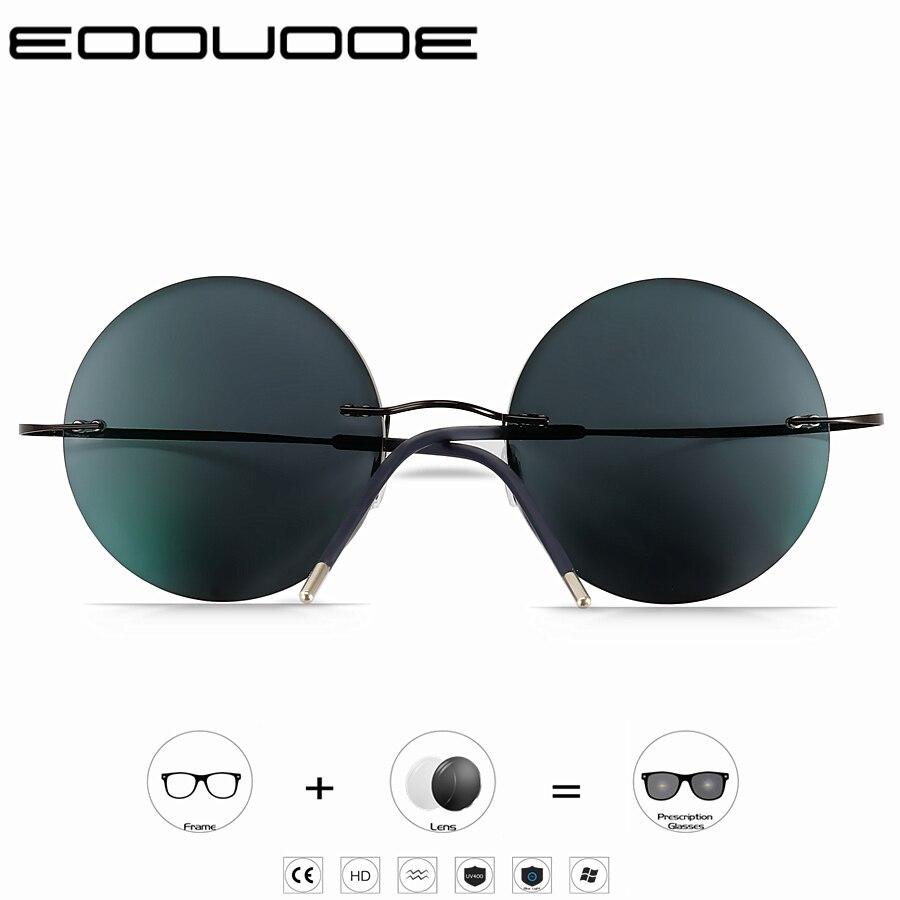 Photochromism Reading Glasses Men Titanium Frameless glasses Frame Women Ultralight Round Korean Glasses 1.0 1.5 2.0 2.5 3.0