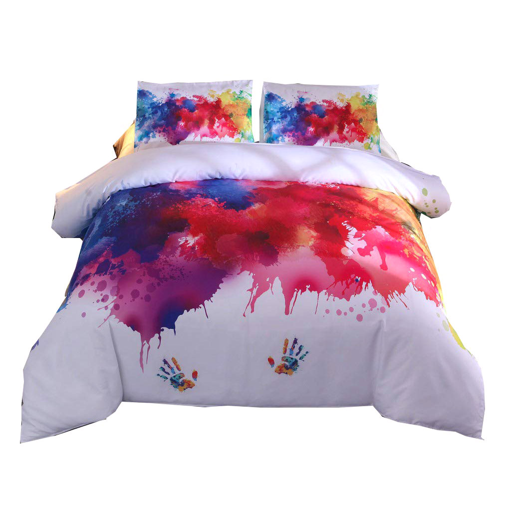 NHBR-Duvet Cover Watercolor Splash Ink Bedding Set Twin Full Queen King Size 3Pcs BedclothesNHBR-Duvet Cover Watercolor Splash Ink Bedding Set Twin Full Queen King Size 3Pcs Bedclothes