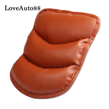 For Honda Civic PU Leather Armrest Pillow Pad Center Armrest Box Pads Car Arm Rest Top Cover free punch wooden pu leather special car armrest box with 4 usb hole for skodaoctavia car center hand box