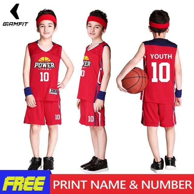 Jeunes Maillots de Basket-Ball Uniformes pour Garçons Enfants Rétro Maillots de Basket-Ball Ensembles D'entraînement Personnalisé vêtements de sports perméables Gilet Vêtements