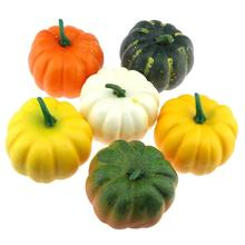 Gresorth 3.5 inches Artificial Pumpkins Fake Halloween Harvest Decoration Pumpkin - Pack of 6