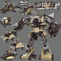 6в1 трансформационный робот военный огонь спецназ кирпичики город строительные блоки Звездные войны создатель Развивающие игрушки для дет...