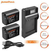 Batería para cámara Sony 2000 mAh NP-FW50 PN FW50 NPFW50 + cargador LCD para Alpha a3000 a5000 a6000 a6300 a6500 NEX-3 L20