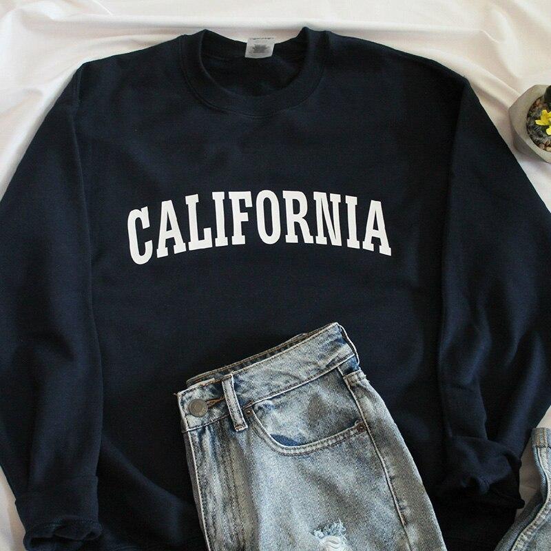 California Grafik Druck Sweatshirt Cottont Frauen Kleidung Winter Volle Hülse Frauen Hoodies Pullover Fleece Kausal Jumper Gai Zahlreich In Vielfalt Pullover Sweatshirts