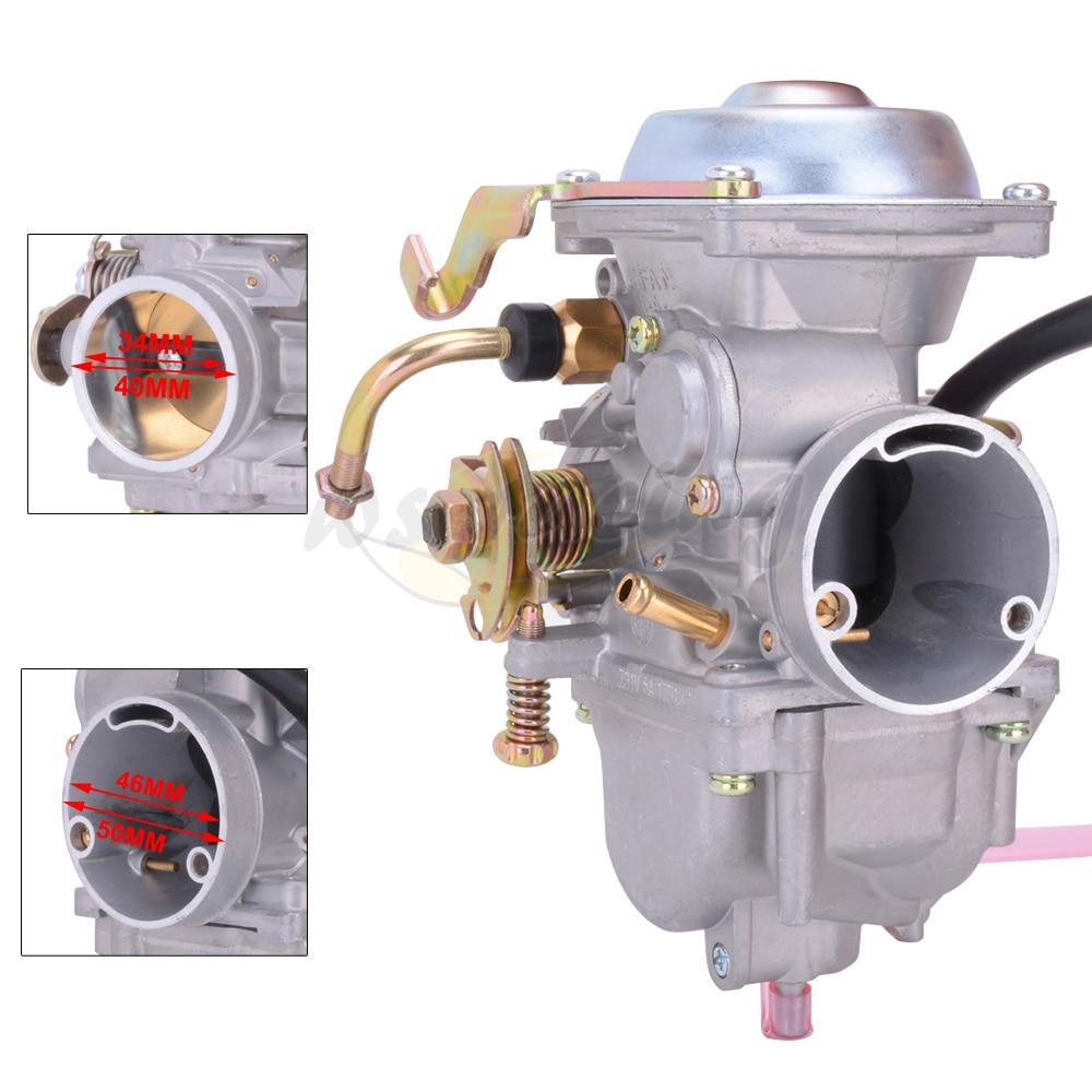 GOOFIT 34mm Carburetor for Roketa ATV-11 JIANSHE JS400 Mountain Lion 400cc ATV