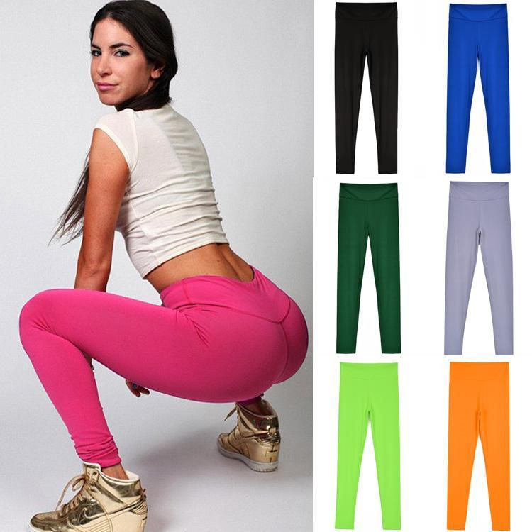 Pants Candy Women's Training Color Running New Sport Fitness Elastic   Leggings