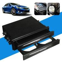 AUTO Universal Car Auto One Din Radio Pocket Drink Cup Holder+Storage Box Pocket Holder Car Storage Box Car Styling