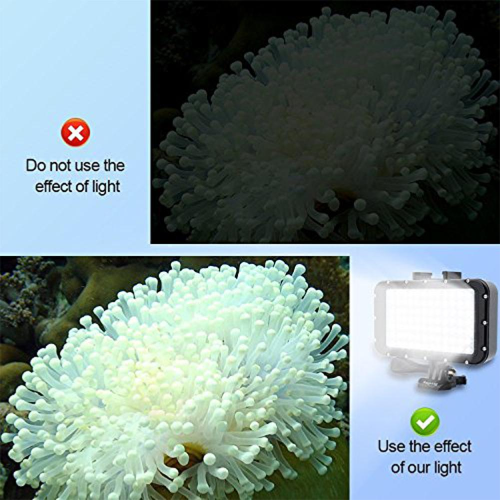 Image 2 - 50M Waterproof Underwater LED HighPower Flash Light For Gopro Canon SLR Cameras Fill Lamp Diving Video Lights Mount r29-in Sports Camcorder Cases from Consumer Electronics