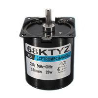 1Pcs 68Ktyz Mini Gear Motor Ac 220V 28W 2.5R/Min Large Torque Permanent Magnet Synchronous Gear Motor