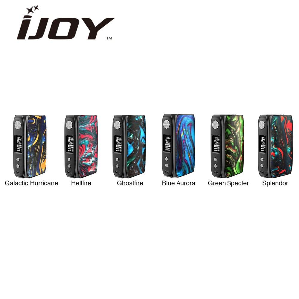 100 Original IJoy Shogun Univ 180W Box Mod Powered By Dual 18650 Battery E cigs Vape
