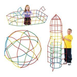 Image 4 - 300 個わらコンストラクタ連動 Enginnering おもちゃストローとコネクタセットキッズ教育おもちゃ