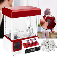 Portable Arcade Candy Grabber Machine Toy Motorized Claw Game Kids Fun Crane Gadget Coin Operated Game Entertainment Supplies