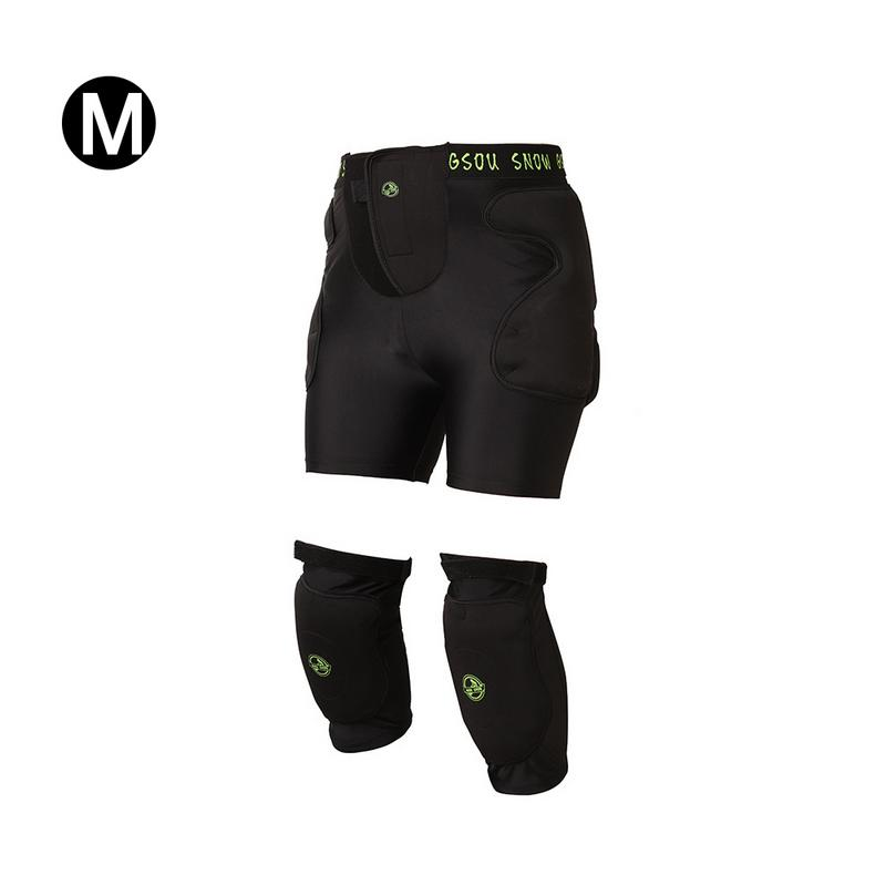 Winter Ski Diaper Hockey Pants Knee Pads Safety Suit Sports Ski Gear For Men And Women Diaper + Knee Pads