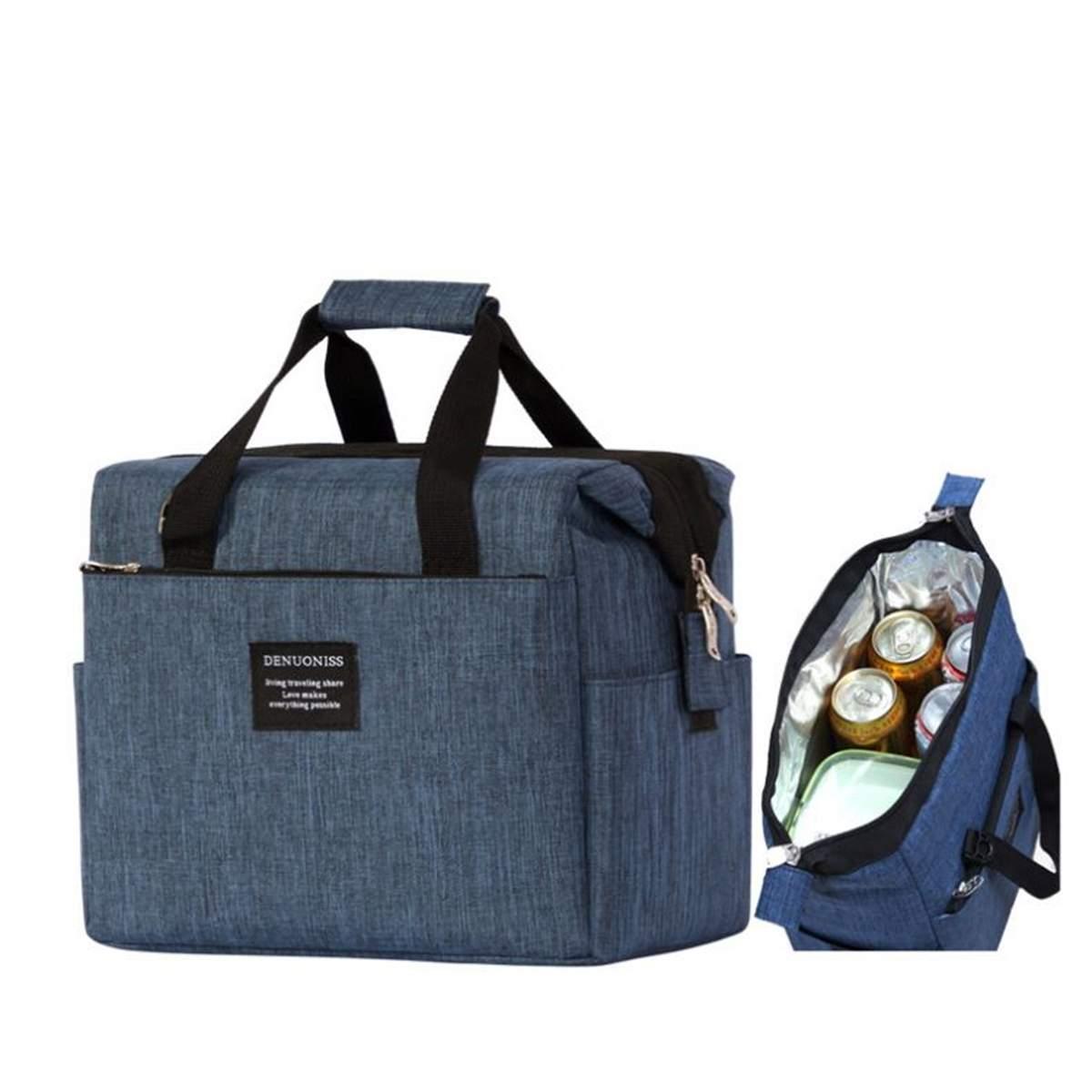 SchöN 10l Tragbare Isolierte Thermische Mittagessen Box Kühler Tragen Tote Picknick Lagerung Tasche Freizeit Handtasche Schulter Picknick Tasche Lunch Bag Gepäck & Taschen