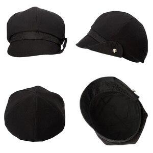 Image 3 - FANCET Bayan İlkbahar Yaz Bere Şapka Düz Pamuk Yumuşak Ayarlanabilir Jakarlı Bel Şeritler Zarif Moda Gazeteci Kapaklar 89027