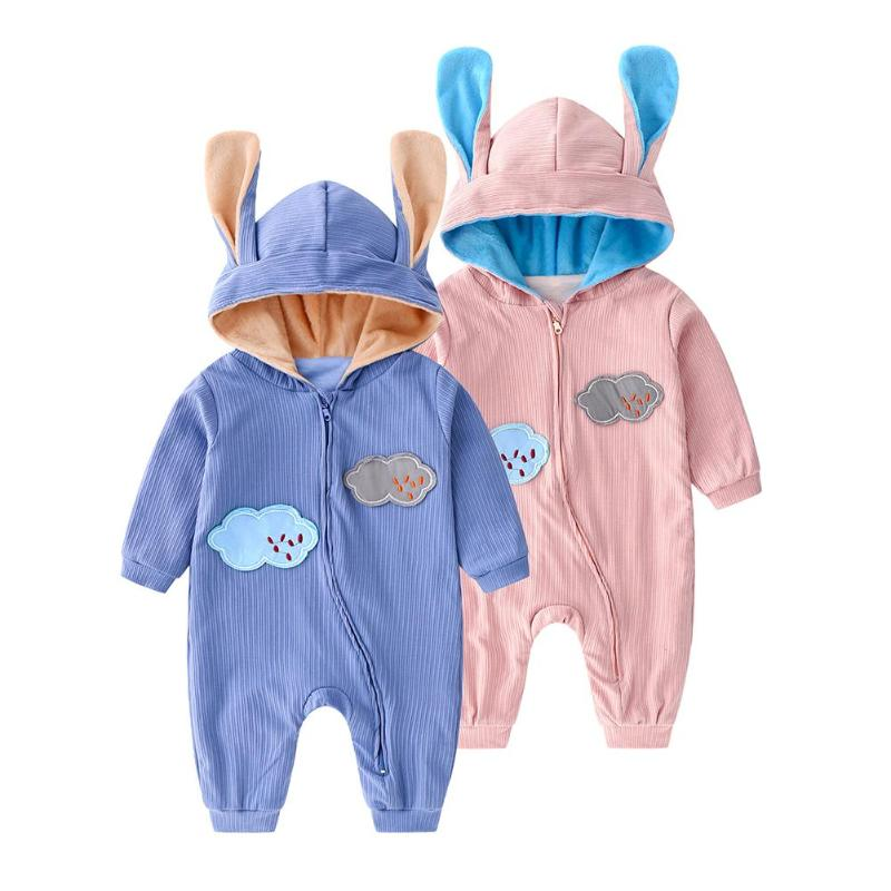 Spring <font><b>Baby</b></font> <font><b>Rompers</b></font> Cute Cloud Embroidery <font><b>Fleece</b></font> Zipper Jumpsuit Outfits <font><b>Baby</b></font> <font><b>Girl</b></font> <font><b>Clothes</b></font> <font><b>Christmas</b></font> gift image