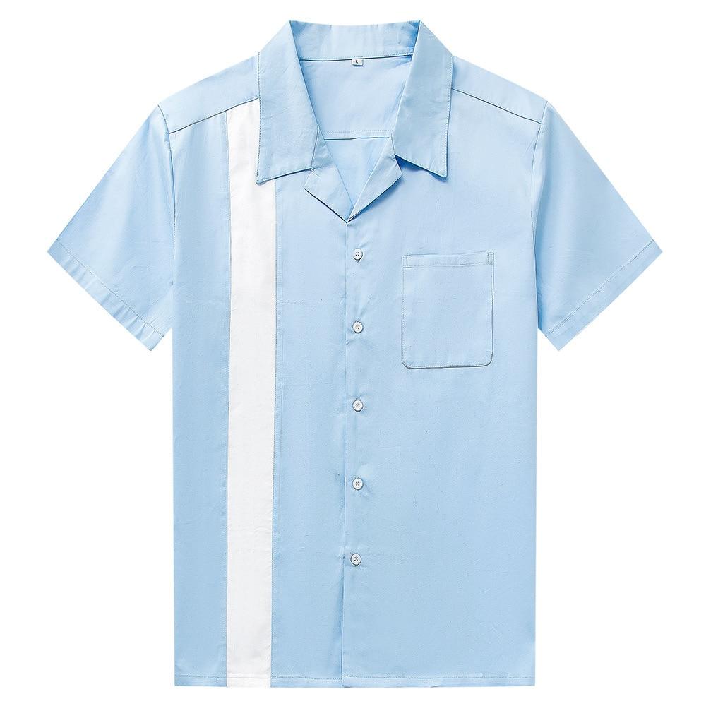 Dragon Printed Shirts Mens 2019 New Spring Hip Hop Streetwear Casual Long Sleeve Turn Down Collar