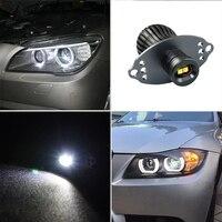 Mayitr 1 Pair Car White LED 40W Angel Eyes Ring Light Bulbs High Quality Auto Lights For BMW E90 E91 LCI