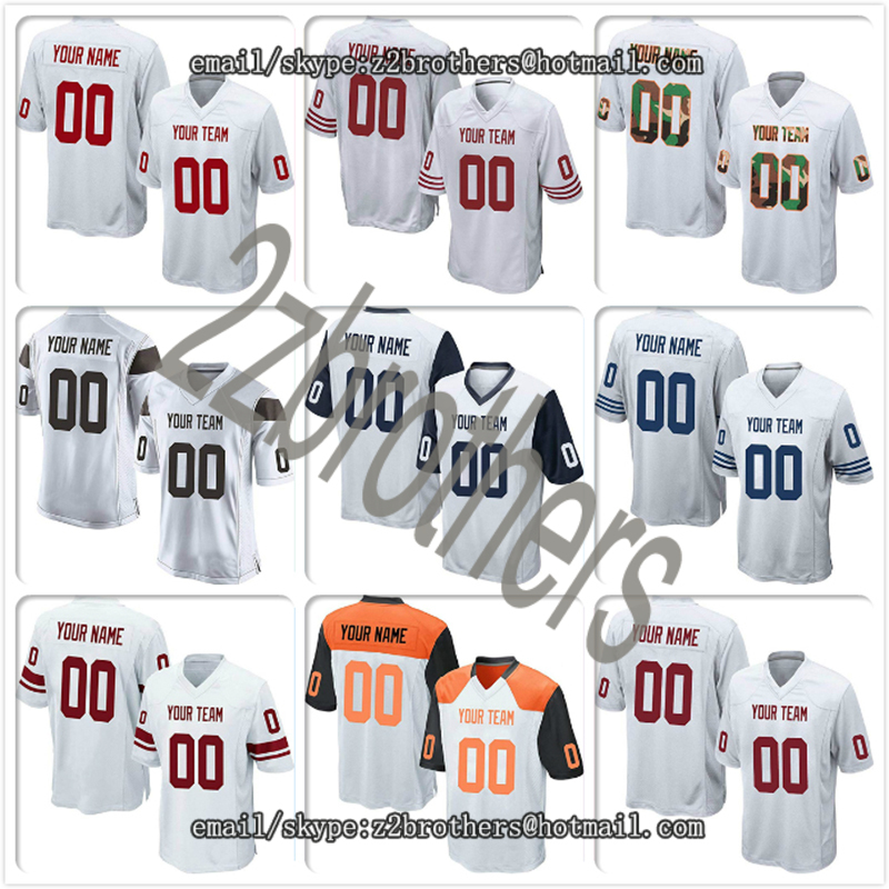 Popular Brand Custom White Mesh Replica Football Game Jersey Embroidere Your Own Team Logo High School College Name And Number Men Women Kids Sports & Entertainment