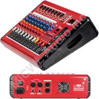 Vermelho 800 w watt 8 Canal Karaoke Stage Power Mixer Console de Mixagem de Som PMR801-AMP Processador de Voz Sem Fio Bluetooth