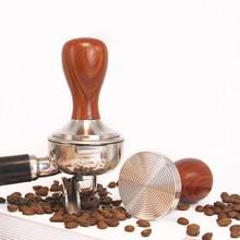304 нержавеющая сталь кофе тампер Chacate Preto деревянная ручка кофе порошок молоток 49/51/58 мм аксессуары для кафе Прямая поставка