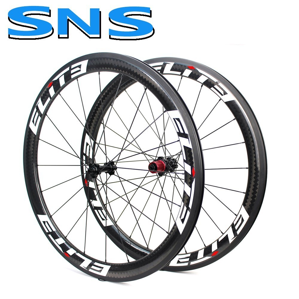 Elite SNS  700c Carbon Bicycle Wheel CHOSEN1386/7647 HUB 30 38 47 50 60 Depth Tubular Clincher Tubeless Fiber Road Bike Wheelset