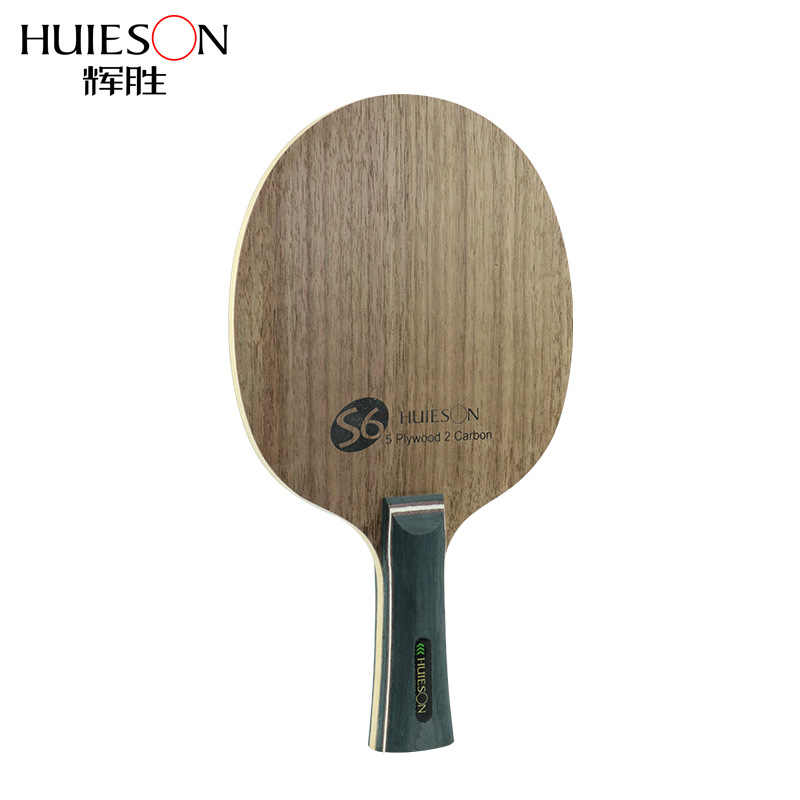 Huieson Super Quality Table Tennis Racket Blade Walnut Ayous 5 Plywood 2 Ply Carbon Ping Pong Blade for Senior Players S6