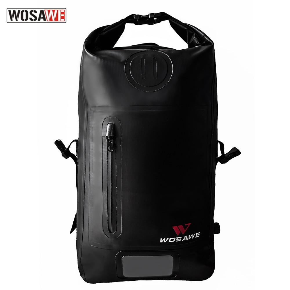WOSAWE 25L Motorcycle Bag Waterproof  Motorbike Backpack Motorcross Travel Tool bag Humanized Shoulder Design High Capacity
