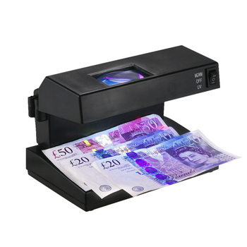 Portable Desktop Counterfeit Bill Money Detector Cash Currency Banknotes Notes Checker Support Ultraviolet UV and Magnifier 1