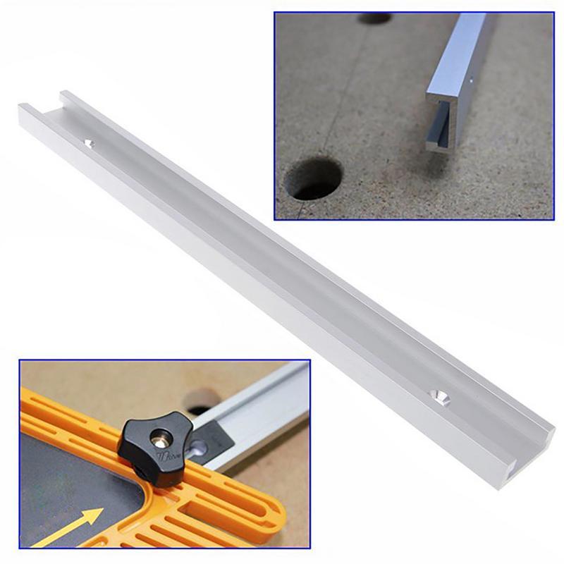 300/400/500mm Woodworking T-slot Miter Track Slide Slot Track Stopper Woodworking Positioning Limiter As Woodworking Tools