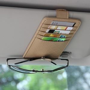 Image 2 - Car Auto Sun Visor Point Pocket Organizer Pouch Bag Card Glasses Storage Holder Car styling