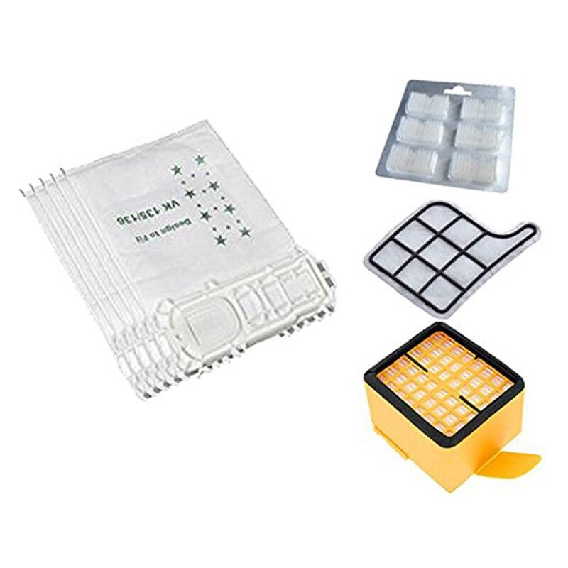 5 vacuum cleaner bags 2 filters 1 scented stones suitable for Vorwerk vacuum cleaner Kobold 135 136