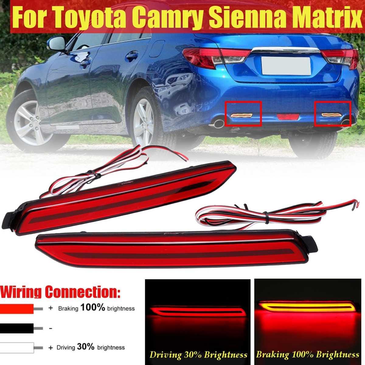 1 Para Led Auto Hinten Stoßstange Reflektor Schwanz Bremse Licht Bar Für Toyota Camry Für Matrix Sienna Venza Avalon Für Lexus Gx470 Rx300