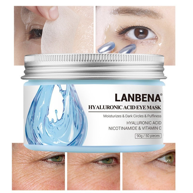 50pcs LANBENA Hyaluronic Acid Eye Mask Patch For Eye Collagen Gold Mask Relieving Dark Circle Remove Anti Puffiness Skin Care