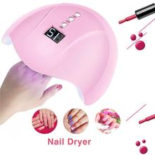36W UV Led Lamp Nail Dryer 12 Leds UV Lamp For All Types Gel Nail Machine Curing 60s/90s Timer USB недорого
