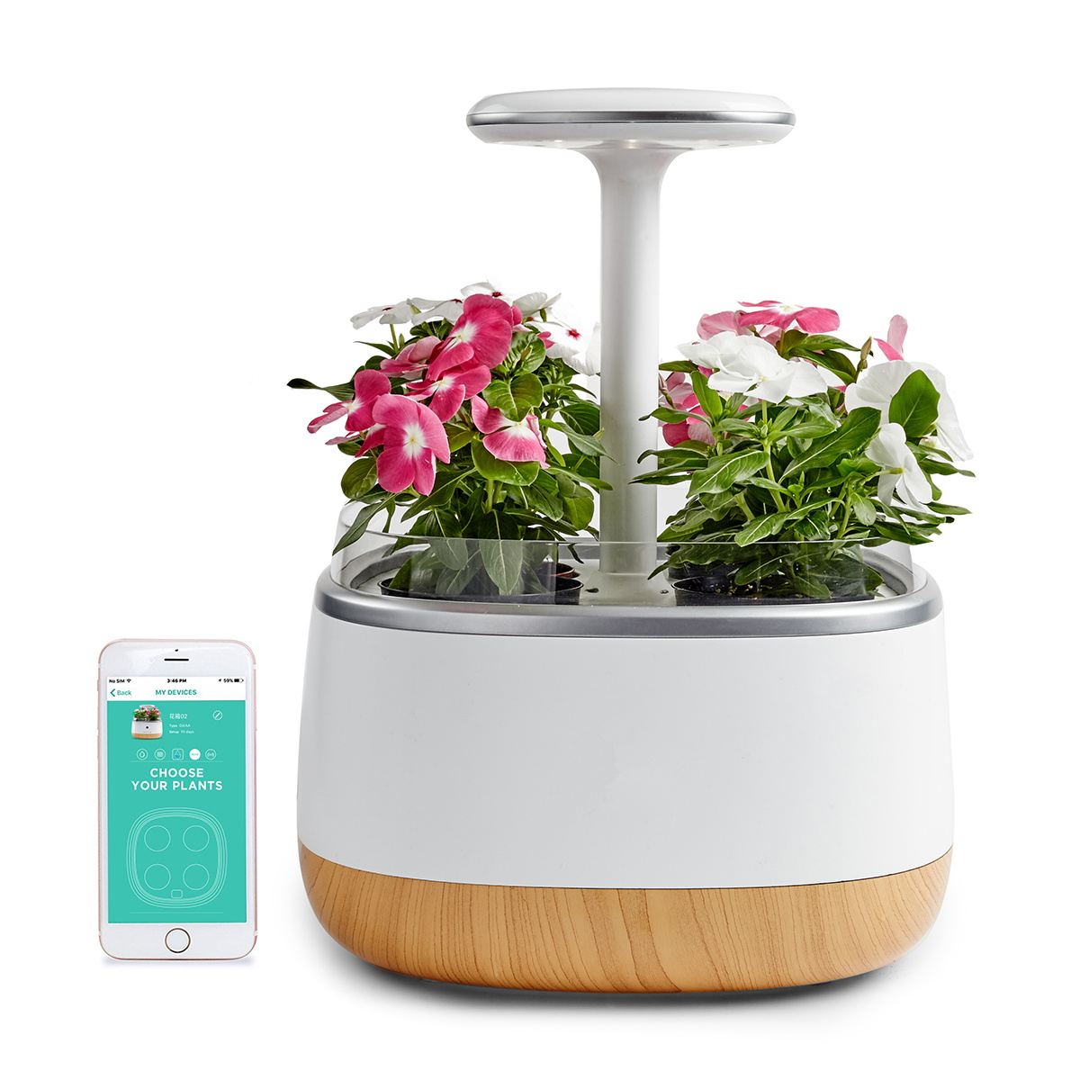 Intelligent Flower Pot Planter Indoor Sprout Led Light With App