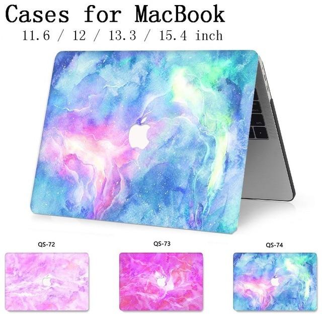 Para a Tampa Notebook Laptop MacBook Sleeve Case Para MacBook Air Pro Retina 11 12 13 15.4 Polegada Com Protetor de Tela tampa do teclado